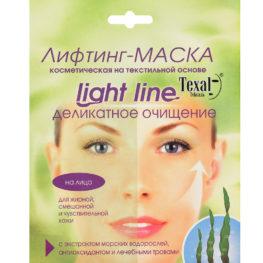 """Косметическая лифтинг-маска Texal для лица """"Деликатное очищение"""" на основе морских водорослей, лечебных трав и антиоксиданта, одноразовая"""